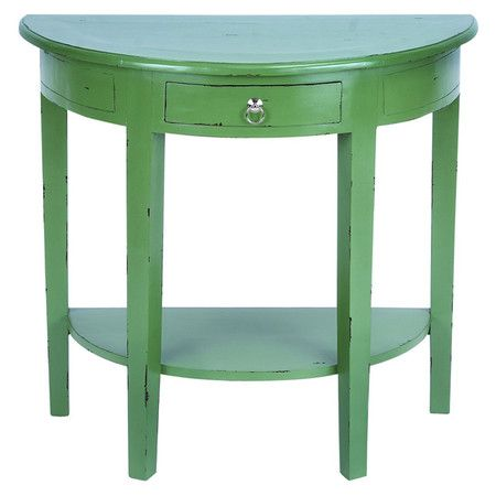 Clemence Console Table in Rich Green.