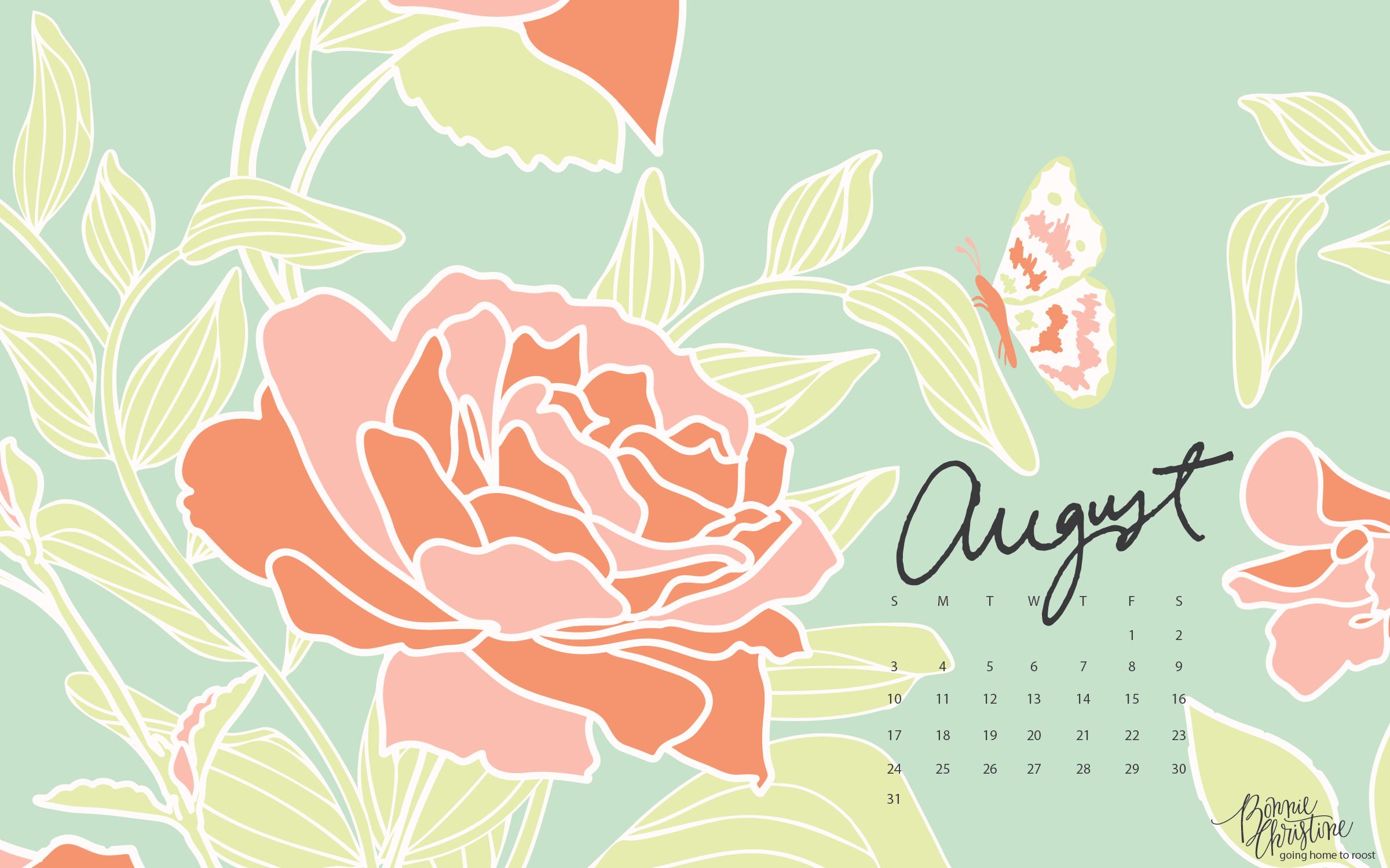 August Desktop Iphone Calendars By Bonnie Christine 6