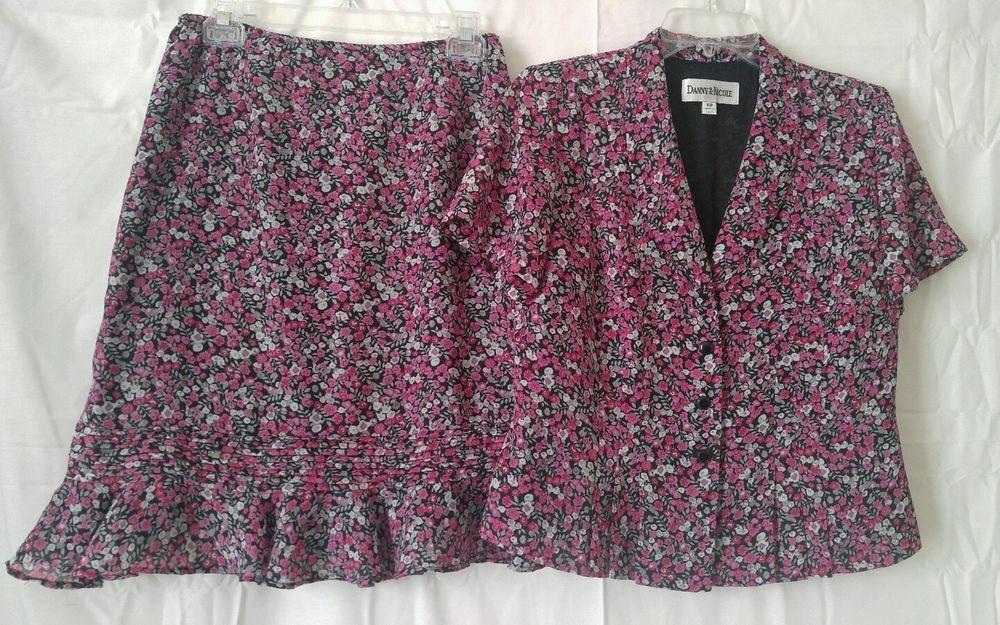 Danny & Nicole Petites Women's 2pc Skirt Suit Size: 10P #DannyNicole #SkirtSuit