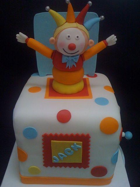 78d7a71a9 jack in the box cake - Recherche Google Clown Cake, Breakfast Cookies, Jack  In