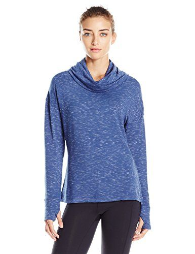 Danskin Womens Space Dye French Terry Pullover Slate Blue L *** Check out this great product.