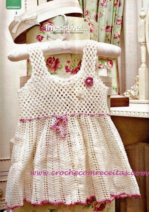 Crochet: For Girl | vestidos niña tejidos | Pinterest | Vestidos ...