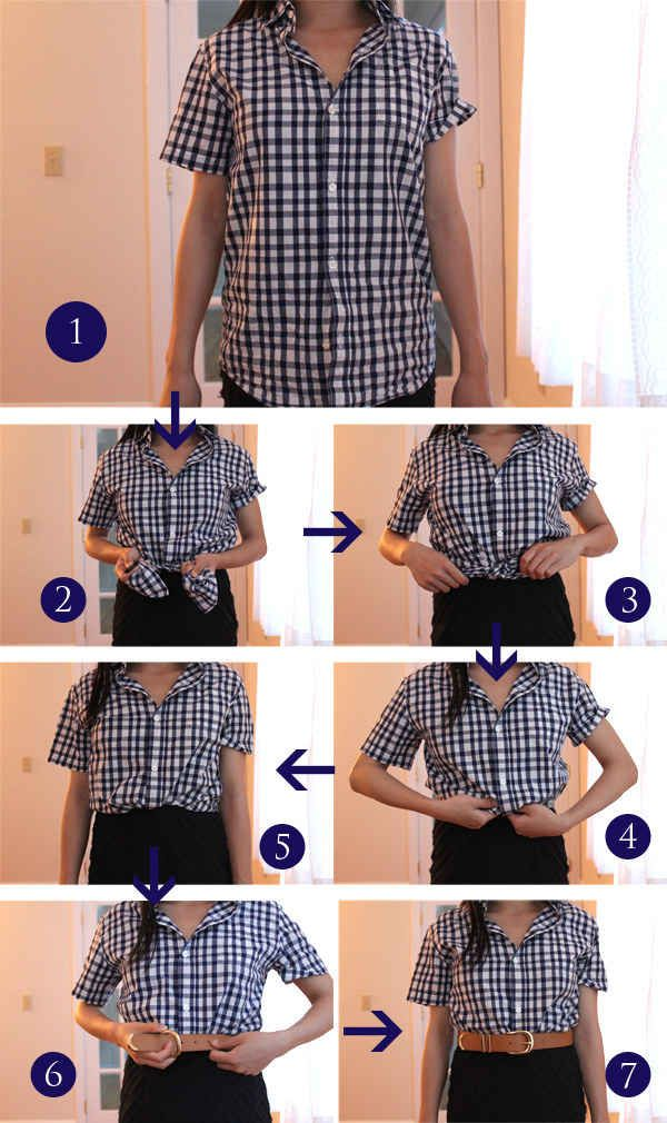 16 Ways To Tuck Tie Roll And Twist Your Clothes Like A Stylist How To Wear Belts Clothing Hacks Fashion