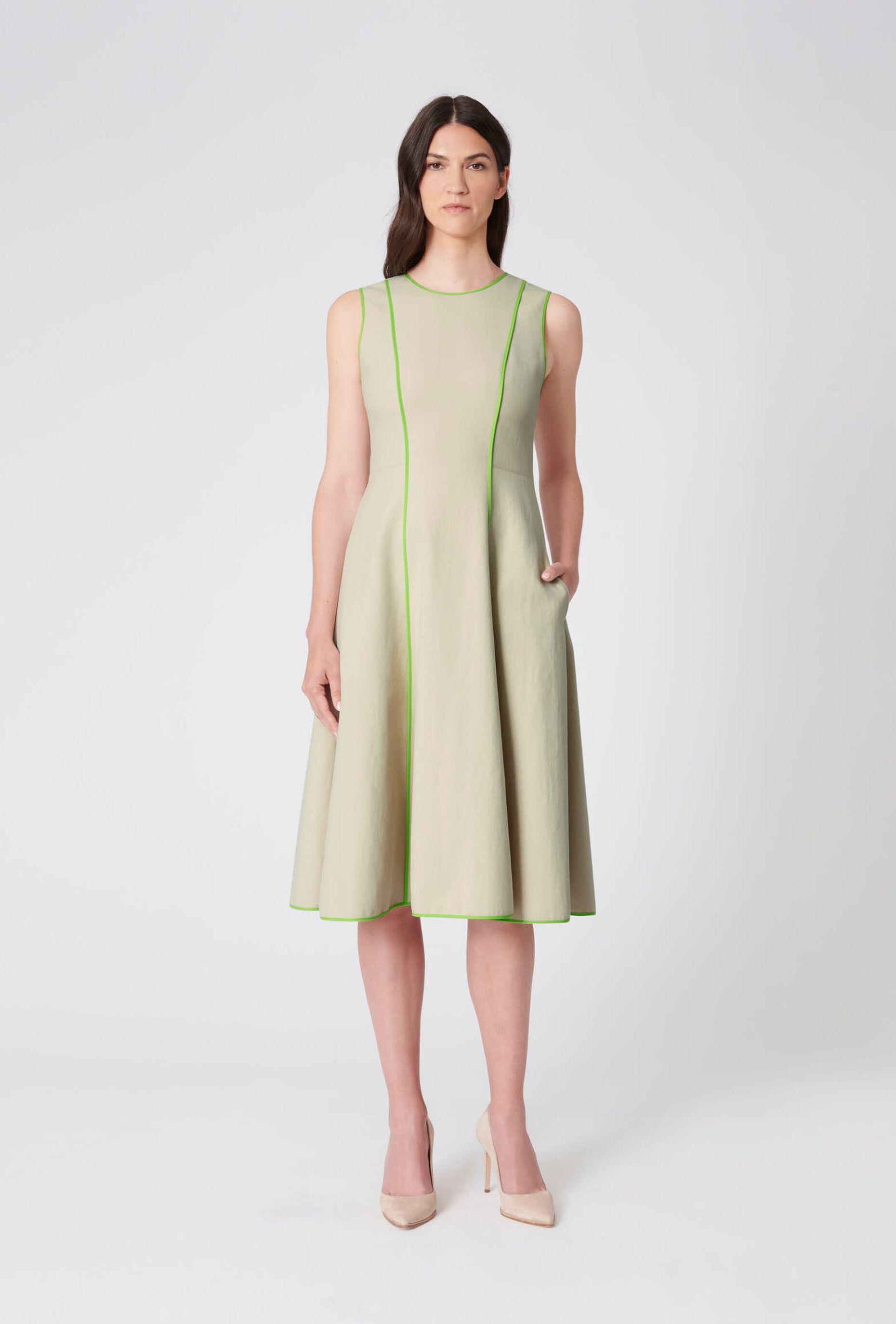 Paule Ka  Woven dress, Cotton dresses, Cotton midi dress