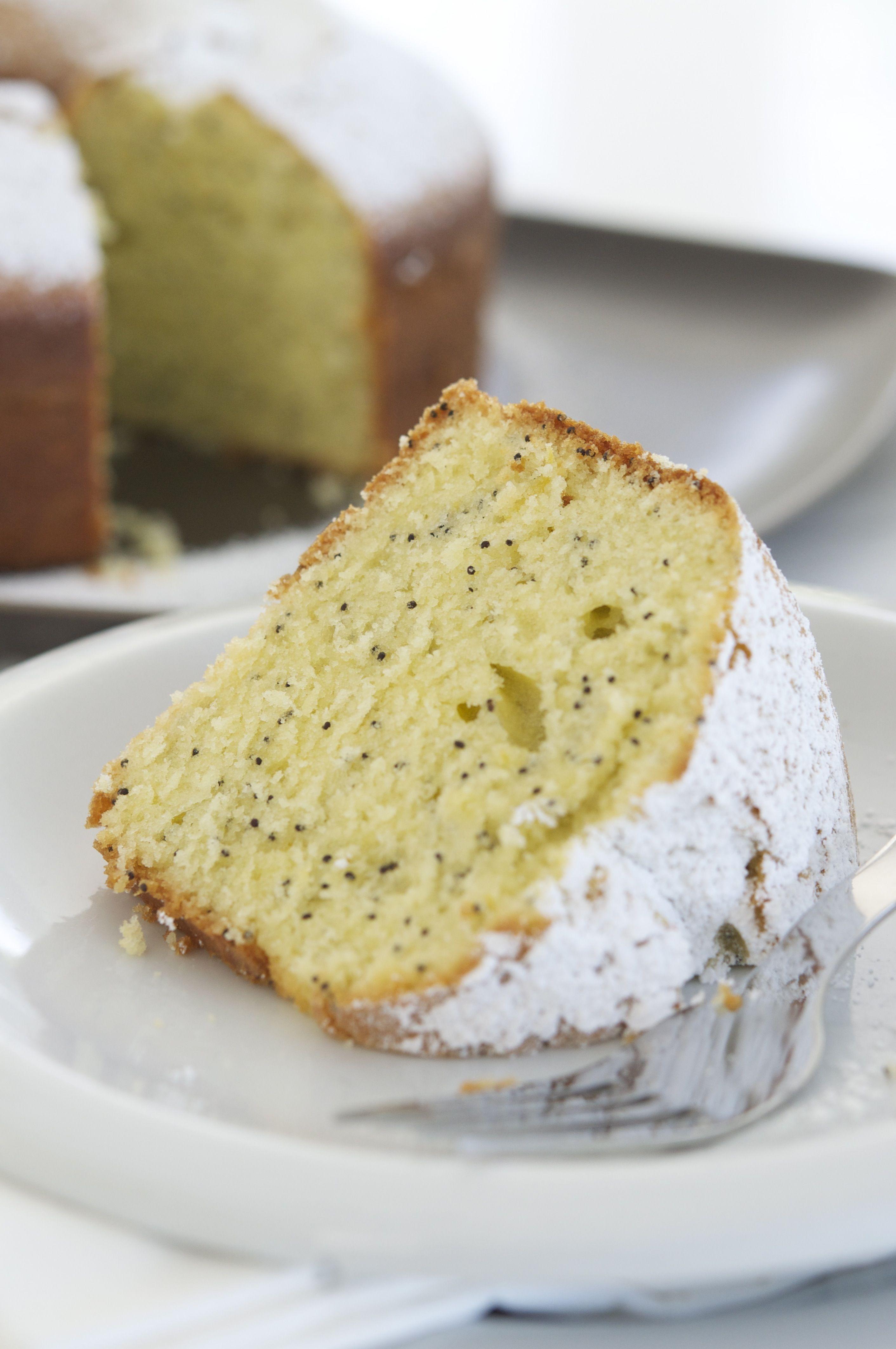Lemon Poppy Philly Fluff Cake Diva Eats World