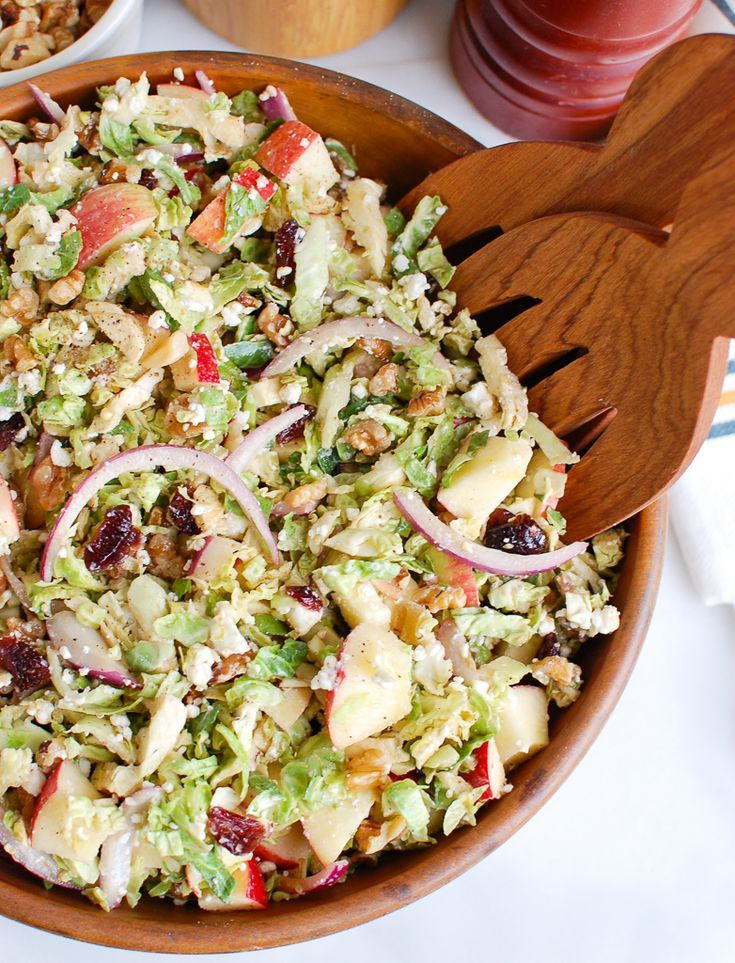 Brussels Sprout Apple Goat Cheese Salad Recipe Goat