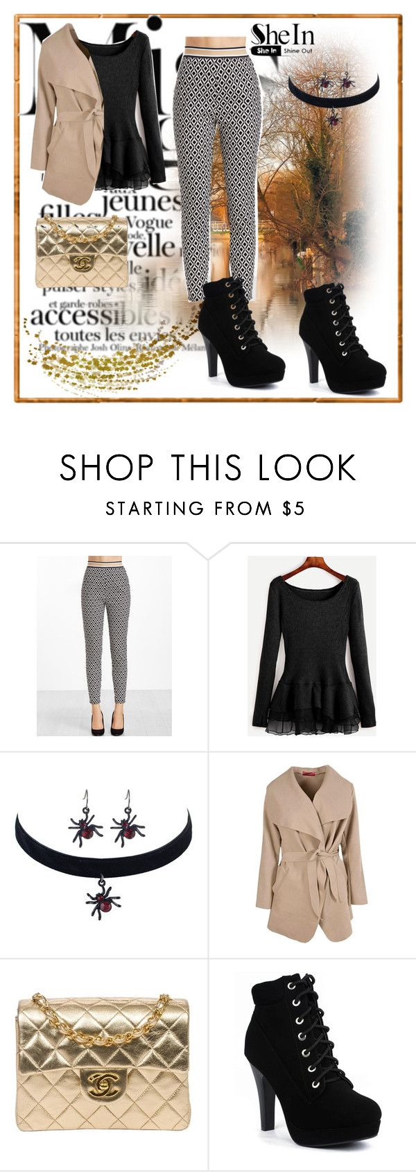 """""""SheIn 2"""" by dinka1-749 ❤ liked on Polyvore featuring Boohoo and Chanel"""