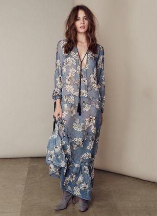 cab4a9b1de #floryday Polyester Floral Long Sleeve Maxi Sexy Dresses #dress #maxi #boho…