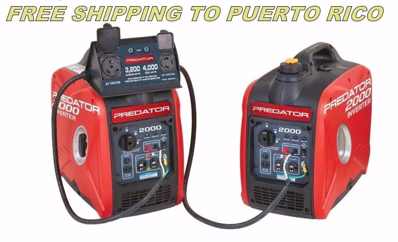 Dual predator 2000 watt gas generator inverter w parallel