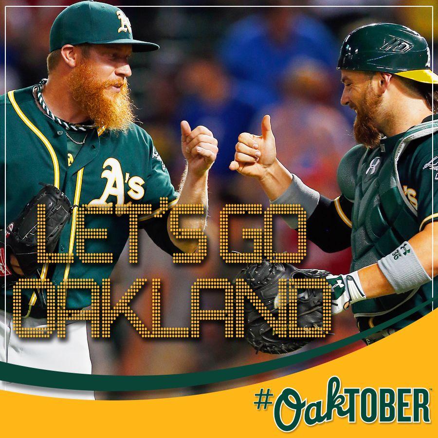 Let's Go Oakland! Let's play OAKtober baseball. Green
