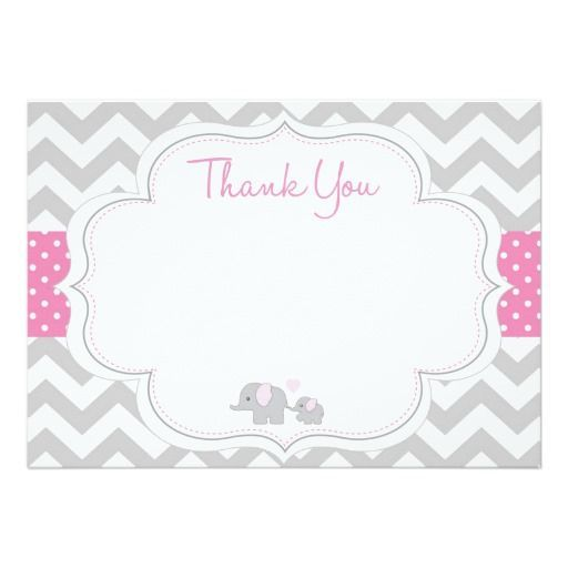pink elephant girl baby shower invitation   elephant baby girl, Baby shower invitations