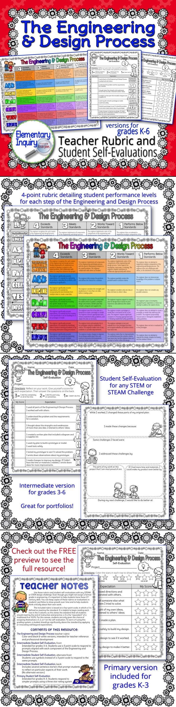 Shirt design rubric - 4 Point Rubric And Student Self Evaluations For Each Step Of The Engineering And Design Process