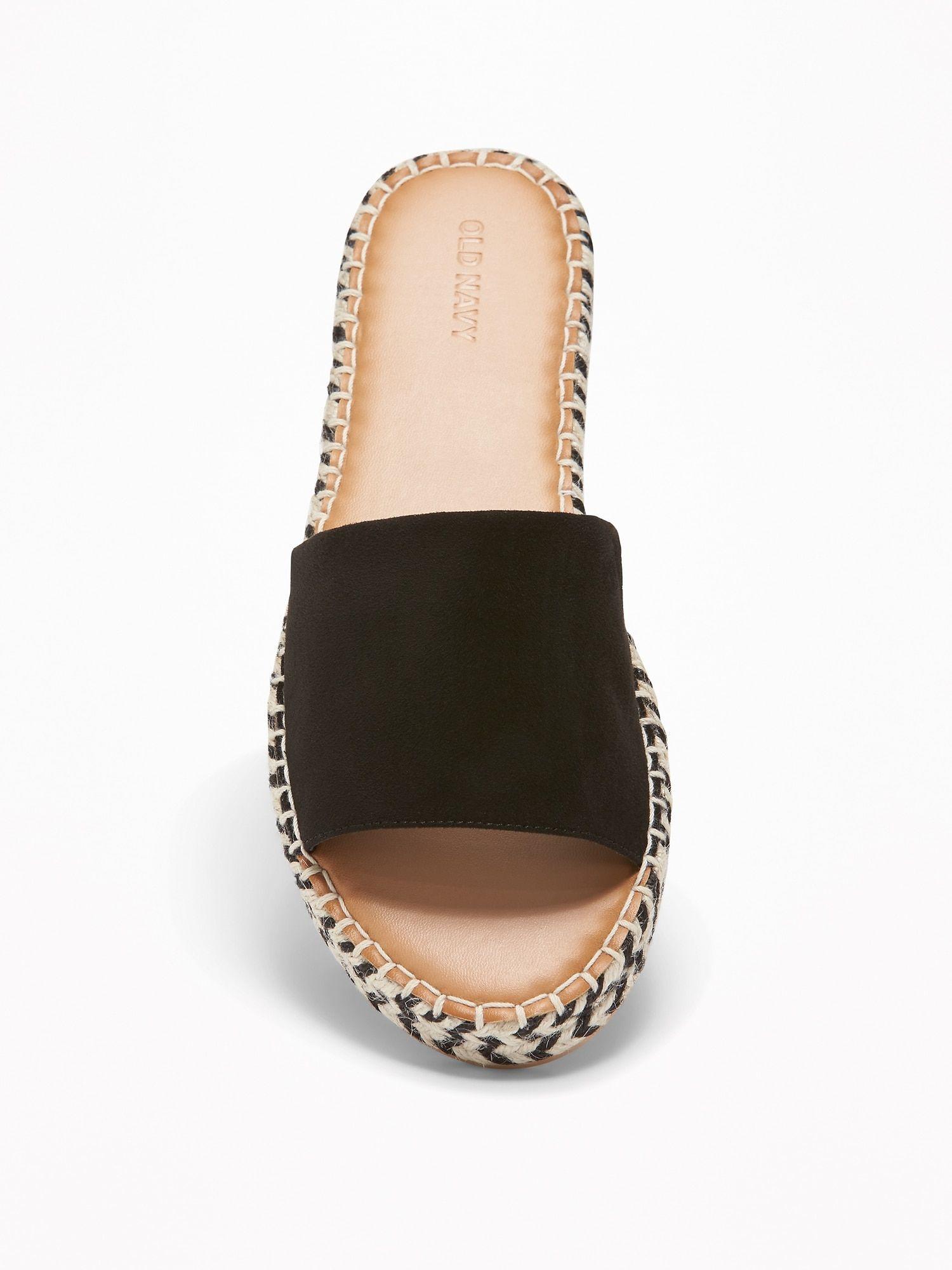 FauxSuede Slide Espadrille Sandals for Women Old Navy