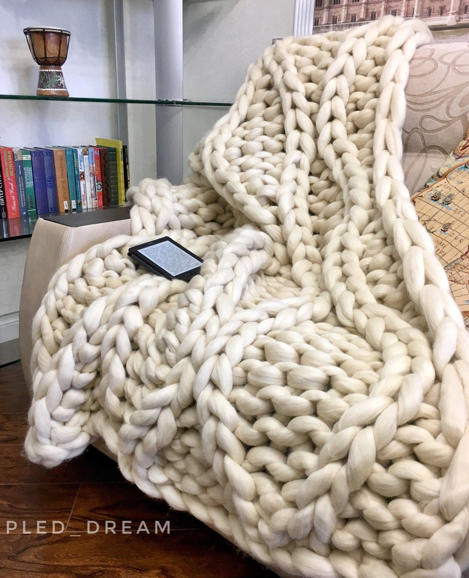 Sale White Chunky Merino Wool Blanket Big Yarn Blanket Thick Etsy Big Yarn Blanket Chunky Merino Wool Blanket Big Yarn