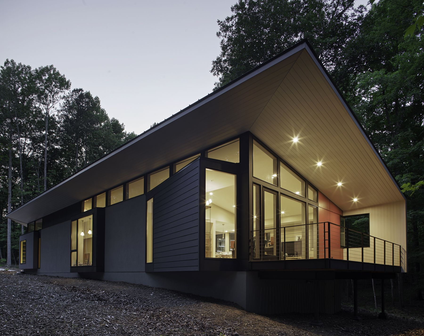 Modern Architecture North Carolina streamlined modern living in the north carolina forest | 12