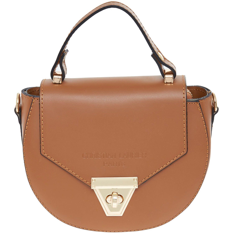 Lauri Tan Leather Clutch Bag Tk Ma