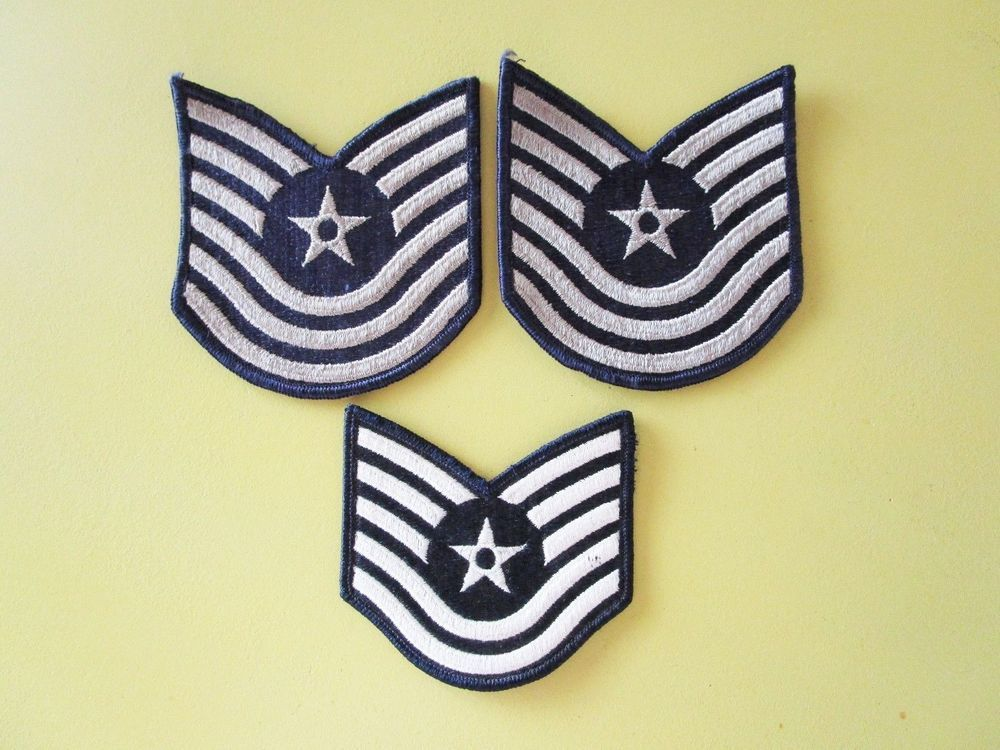 Air Force Patch Star 5 & 6 Stripes Vintage Military Lot of