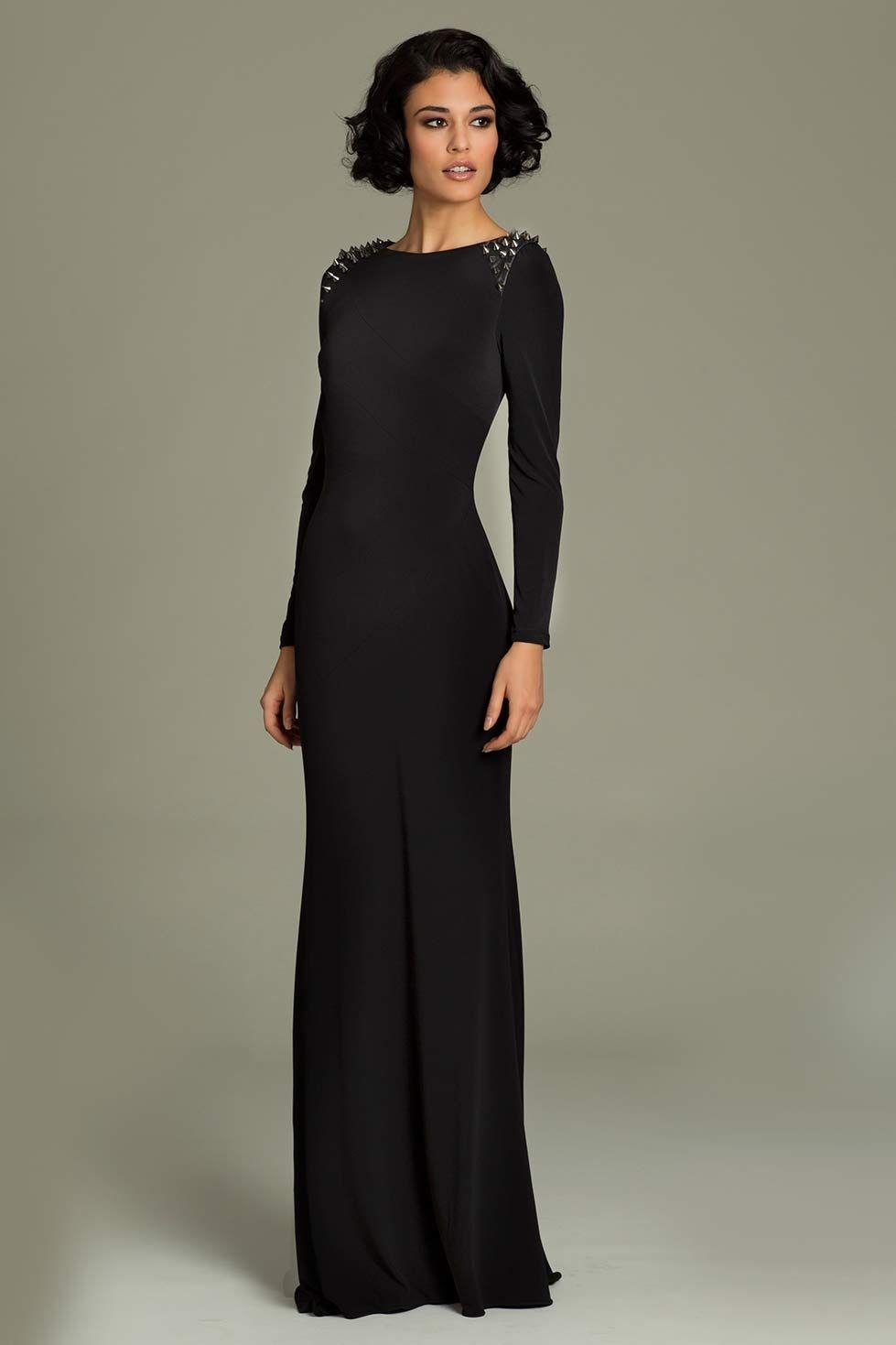 Long sleeve jersey Jovani dress