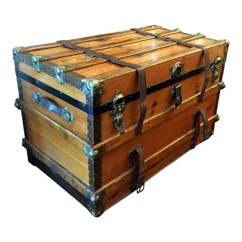 1900 S Traditional Wooden Trunk Wooden Trunks Campaign Furniture Plans Campaign Furniture