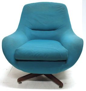 vintage green mcintosh swivel chair retro office home