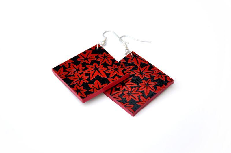 OktoberZinnober - Roter Ahorn - Ohrringe von Schnipseljagd auf DaWanda.com