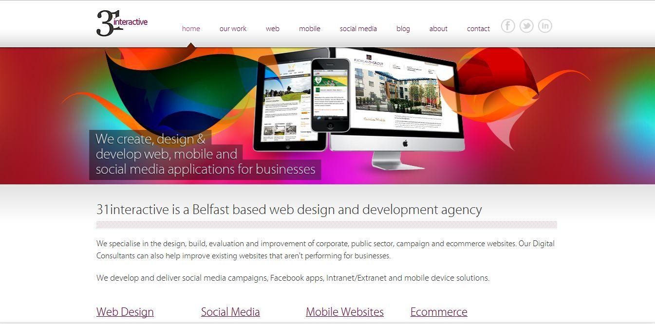 This Is 31interactive S Own Website Web Design Web Development Design App Development