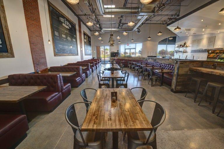 southern industrial restaurant interior - Light Hardwood Restaurant Decoration