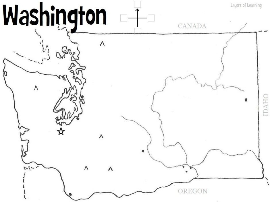 U S State Maps Washington State Map Washington State History