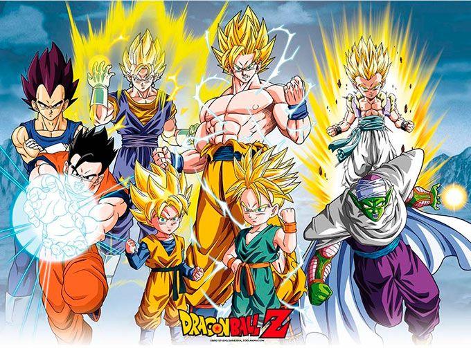 Poster Laminado Dragon Ball Los Mejores Guerreros 52 X 38 Cm Poster De Dragon Ball Donde Puedes Ver En La Ilustra Dragon Ball Z Dragon Ball Dragon Ball Super