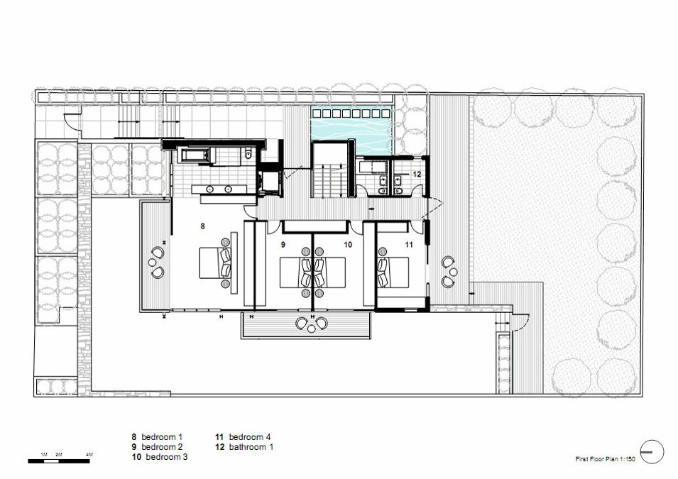 first floor plan vaucluse house in sydney australia by mpr design
