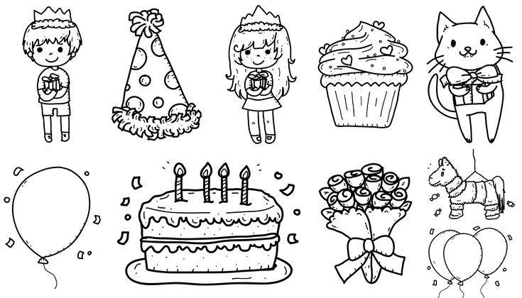 Dibujos de cumpleaños para colorear (Descarga Gratis): Elige el ...