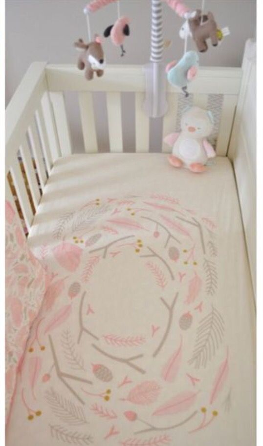Rug Idea Lolli Living Sparrow Musical Mobile + Well Nested Crib Bedding