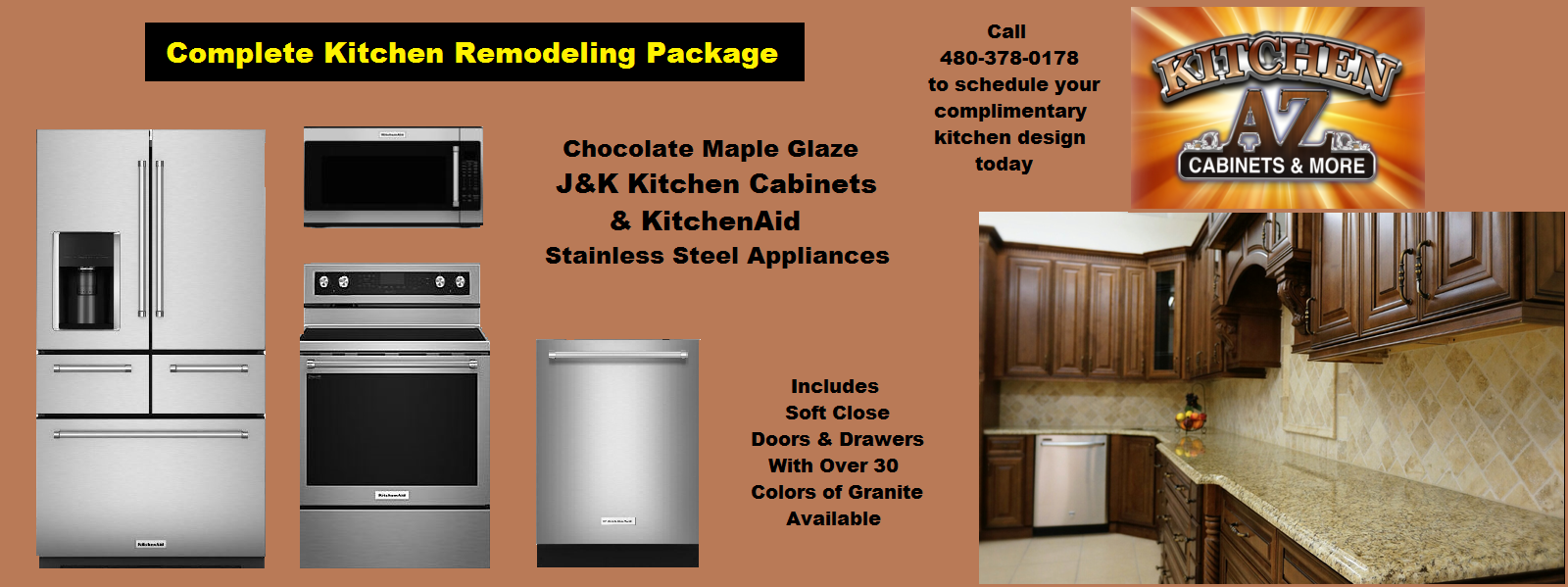 Kitchenaid Appliance Package With Cabinets