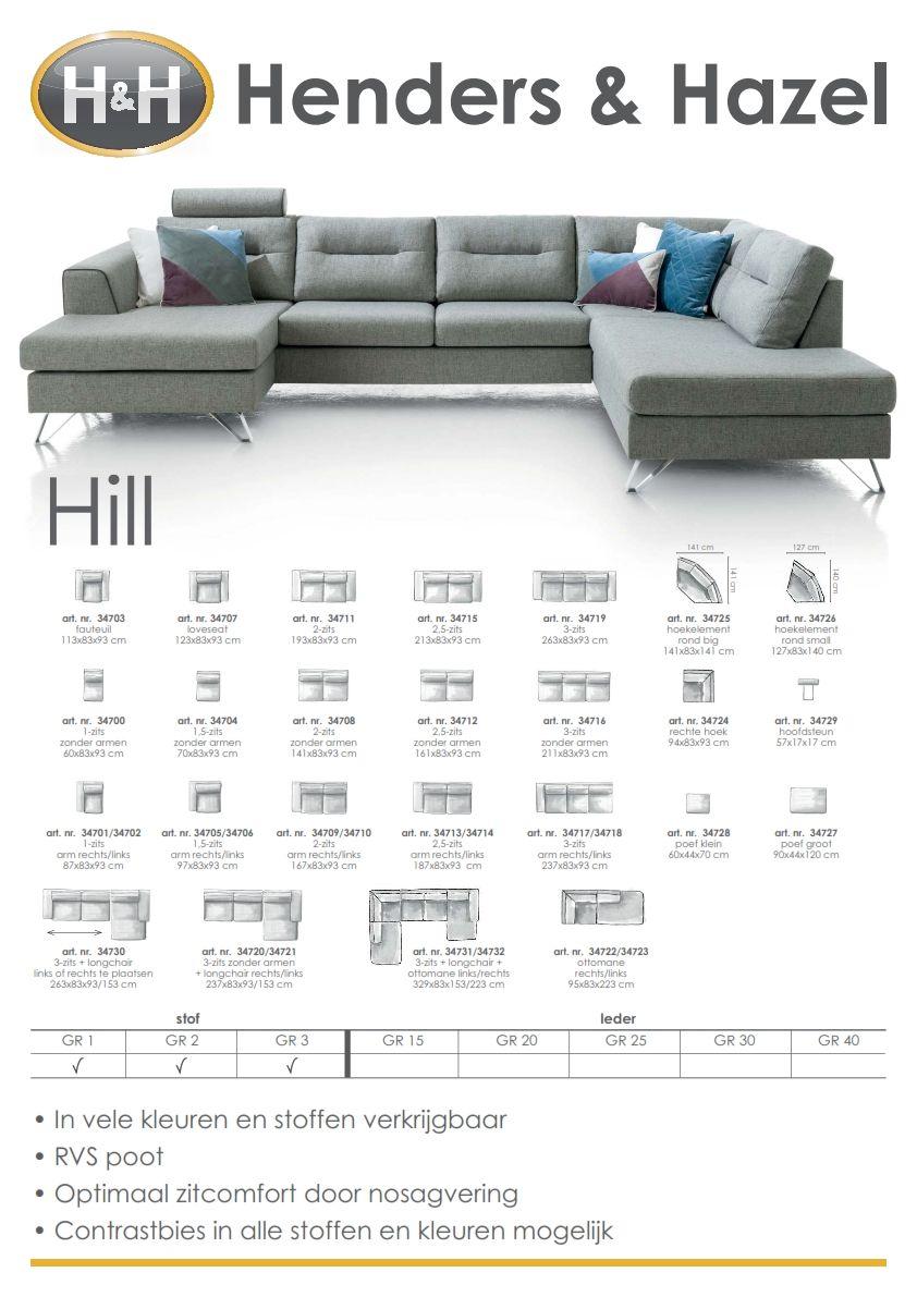 Hill hoekbank met longchair Industrial and House
