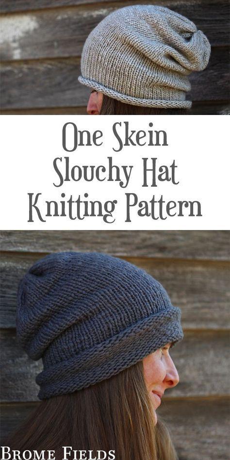 Photo of I {AM} WORTHY : Women's Slouchy Hat Knitting Pattern – Brome Fields