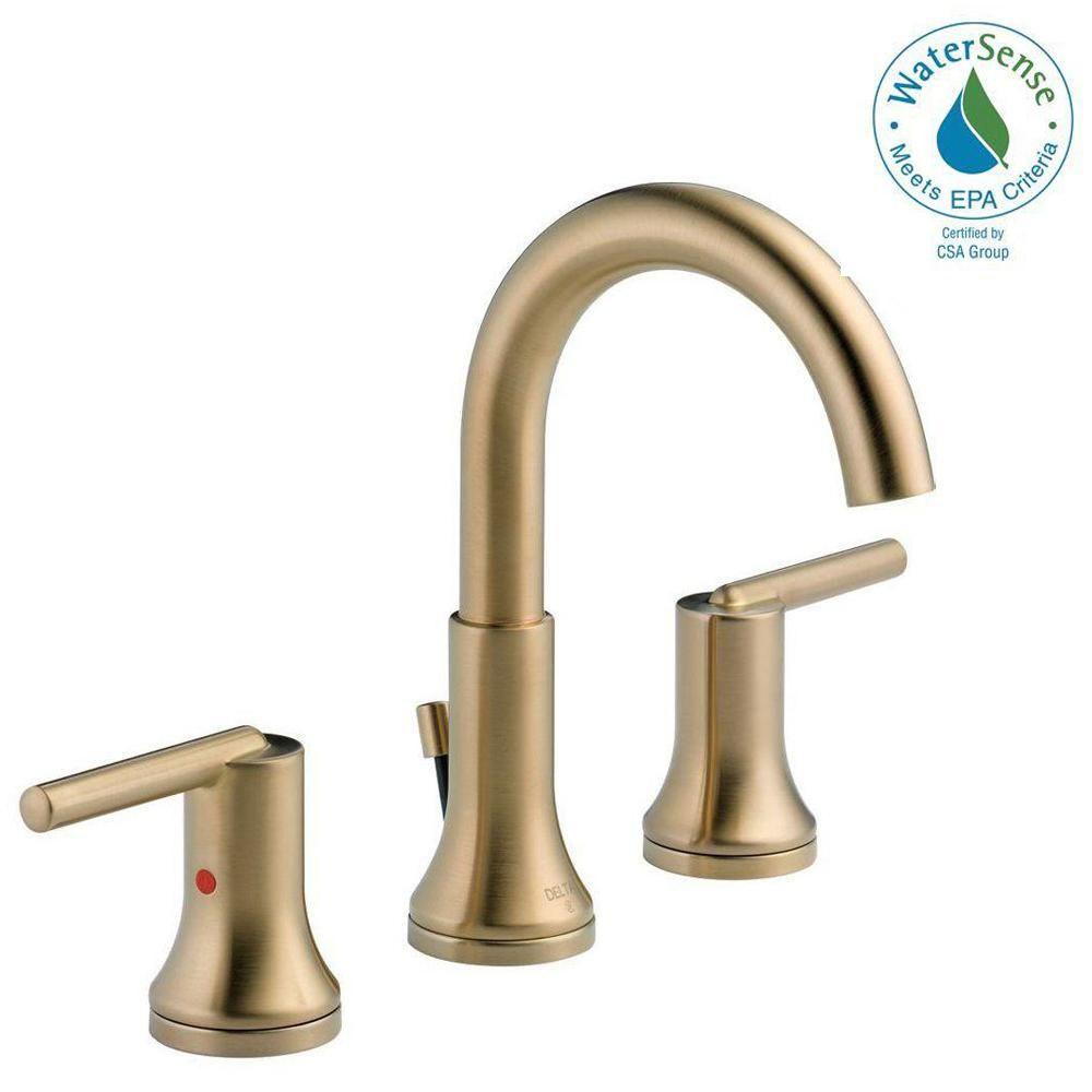 Delta Trinsic 8 In Widespread 2 Handle Bathroom Faucet With