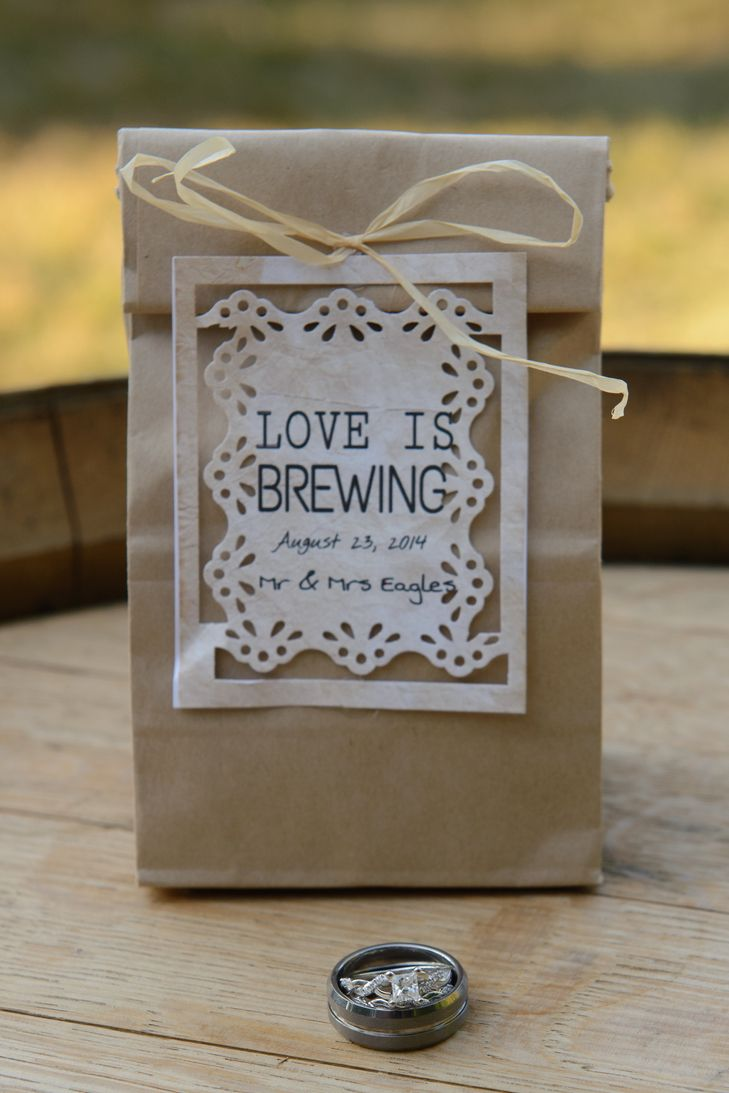 Coffee grounds wedding favor coffee wedding favors
