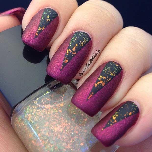 Matte Burgundy Nail Design