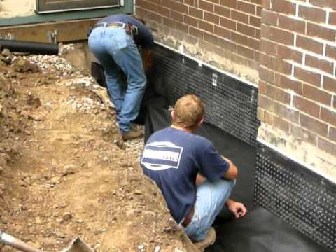 This Is A Job You Could Do Yourself But Be Ready For Some Real Labor Diiging D Waterproofing Basement Basement Waterproofing Paint Basement Waterproofing Diy