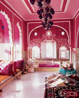 Another Fab Red !   Elle decor, Moroccan and Living rooms