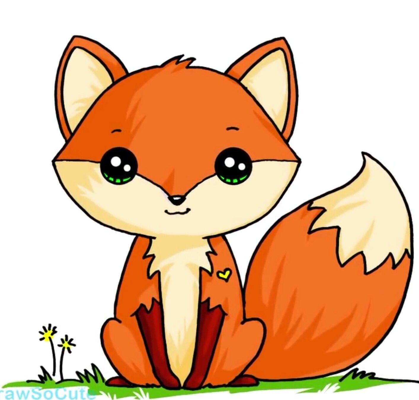 милая лисичка Рисунки животных, Милые рисунки, Милые