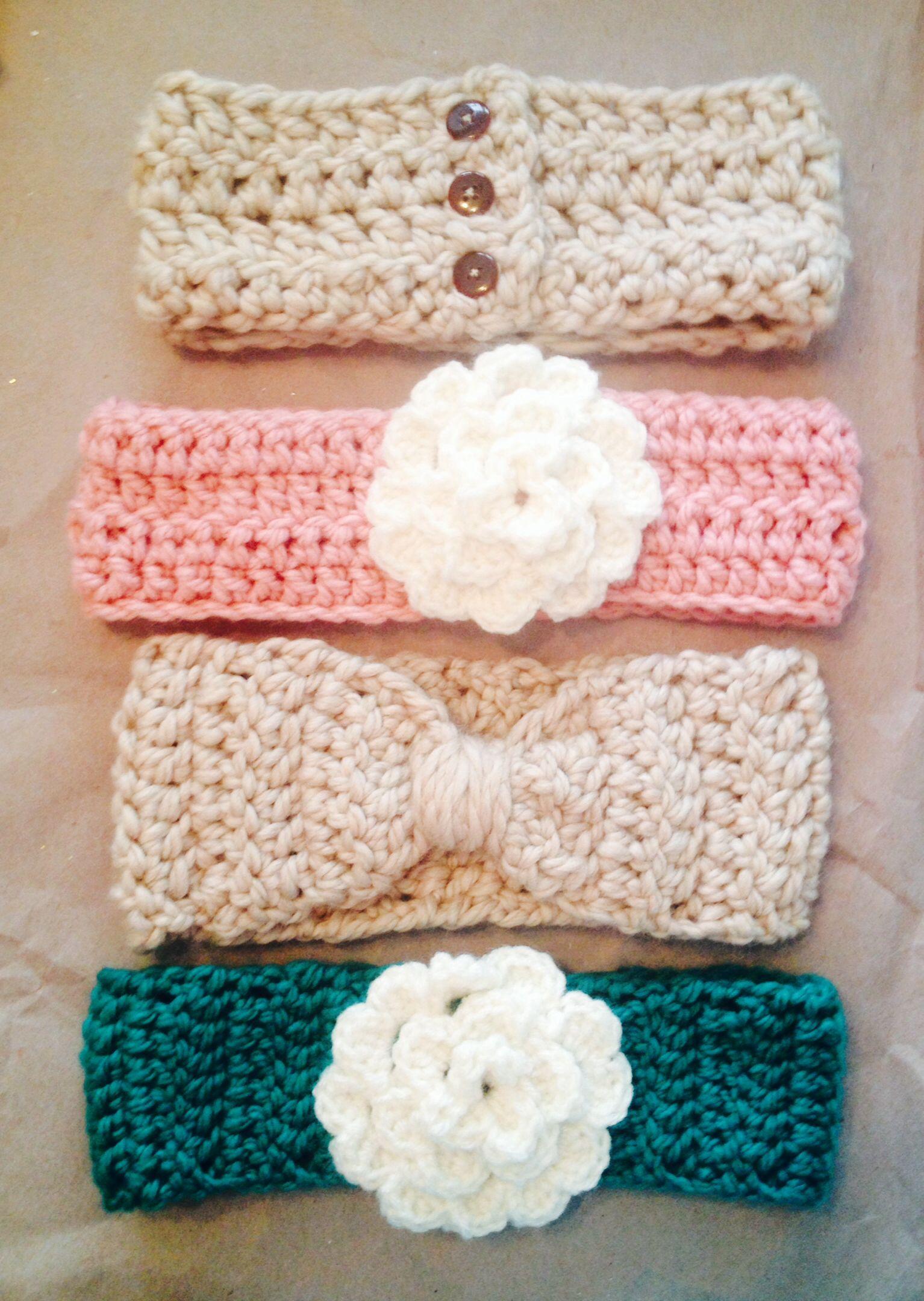Crocheted winter headbands | Crochet | Pinterest | Jacke mädchen ...