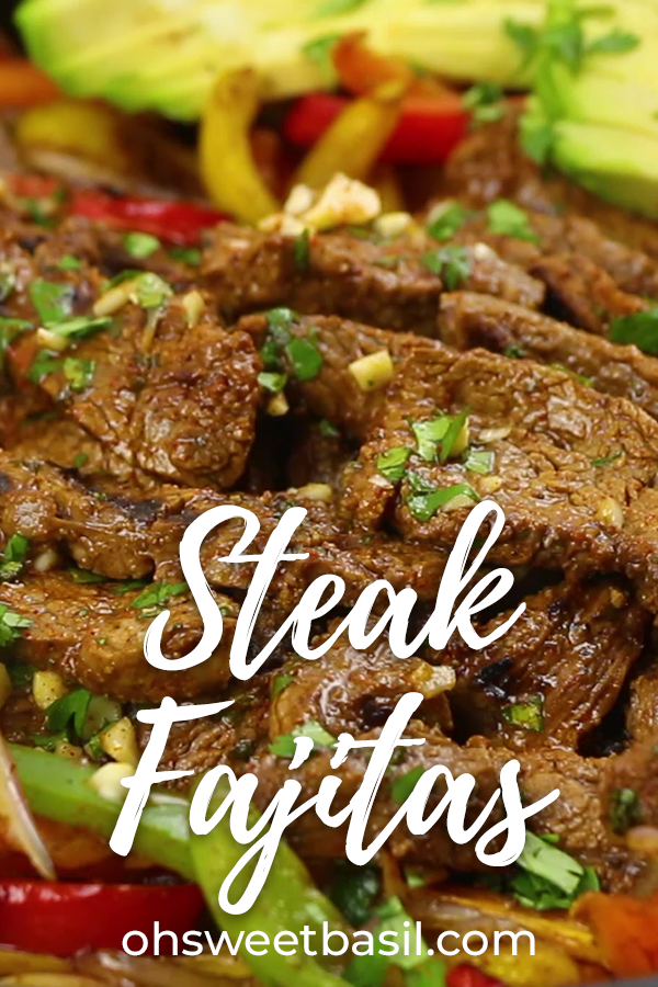 Steak Fajitas by oh sweet basil. This juicy tasty recipe is calling for you. Pin made by GetSnackable.com #Beef #Mexican #beeffajitarecipe