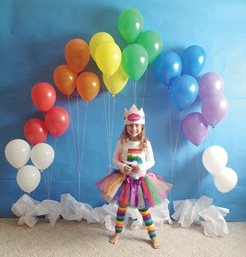 Super Cute Fund Trend Popping Up At Kids Bday Parties Rainbow Party Theme Ideas Birthday Inspiration Decorations