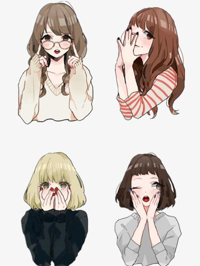 Girl Collection Hand Painted Beauty Beautiful Illustration