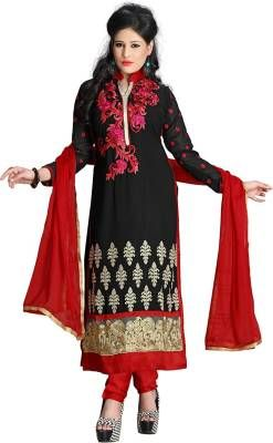 cd55bba06b Z Hot Fashion Georgette Embroidered Salwar Suit Dupatta Material ...