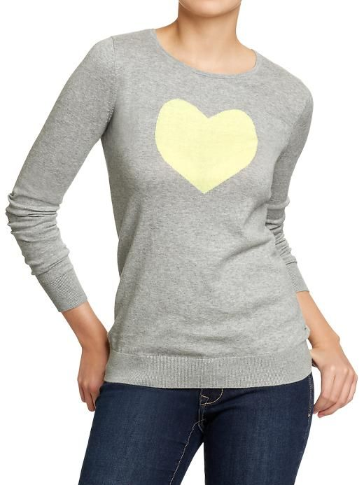 Old Navy | yellow heart sweater | fashion | Pinterest | Graphic ...