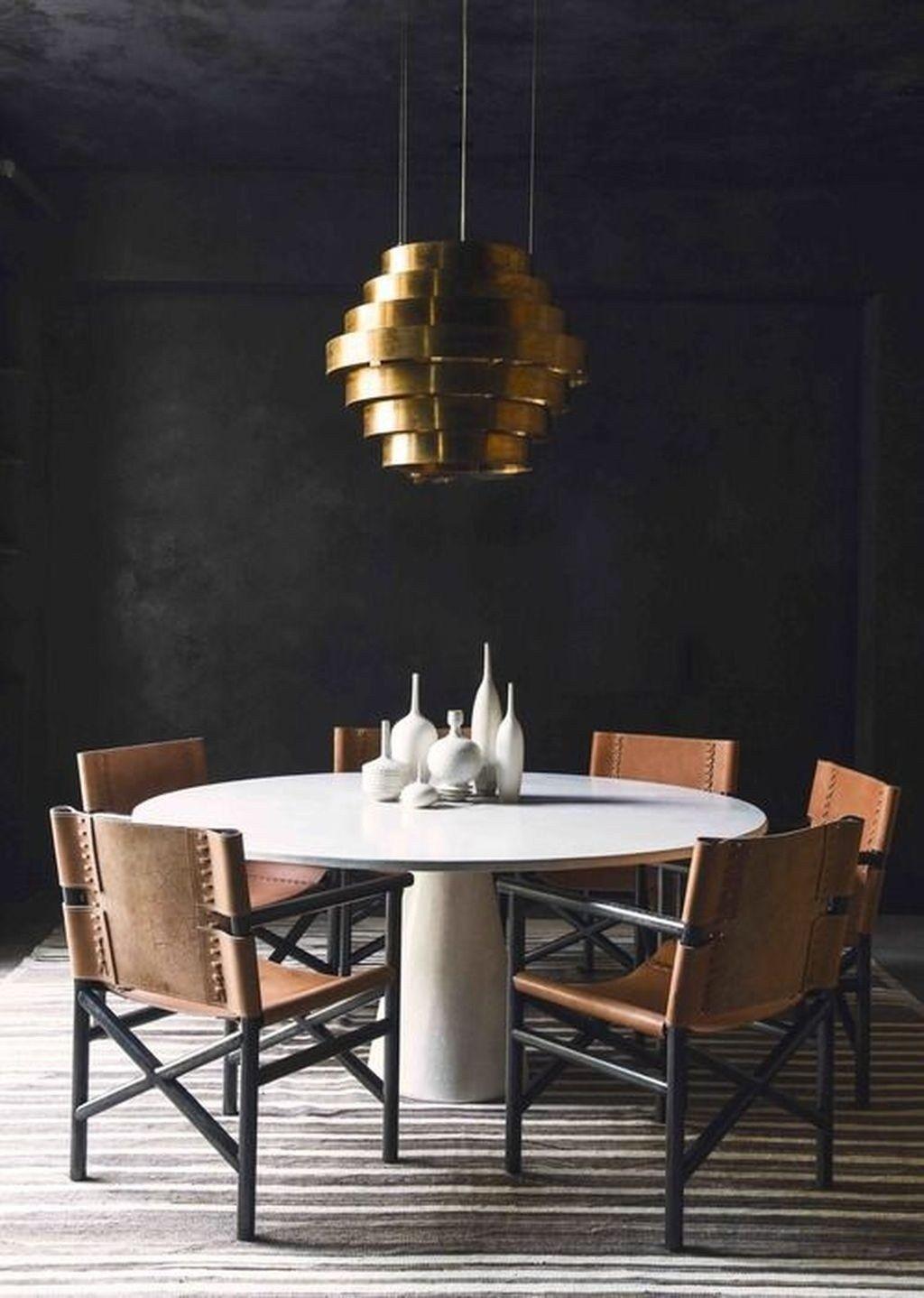 30 Popular Dining Room Round Table Design Ideas Gold Dining Room Masculine Dining Room Gold Dining