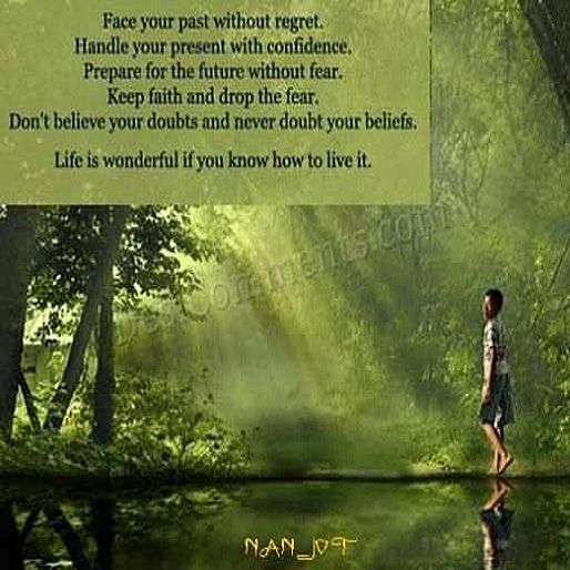 Wonderful Life Quotes: Face Your Past Without Regret, Handle Your Present With