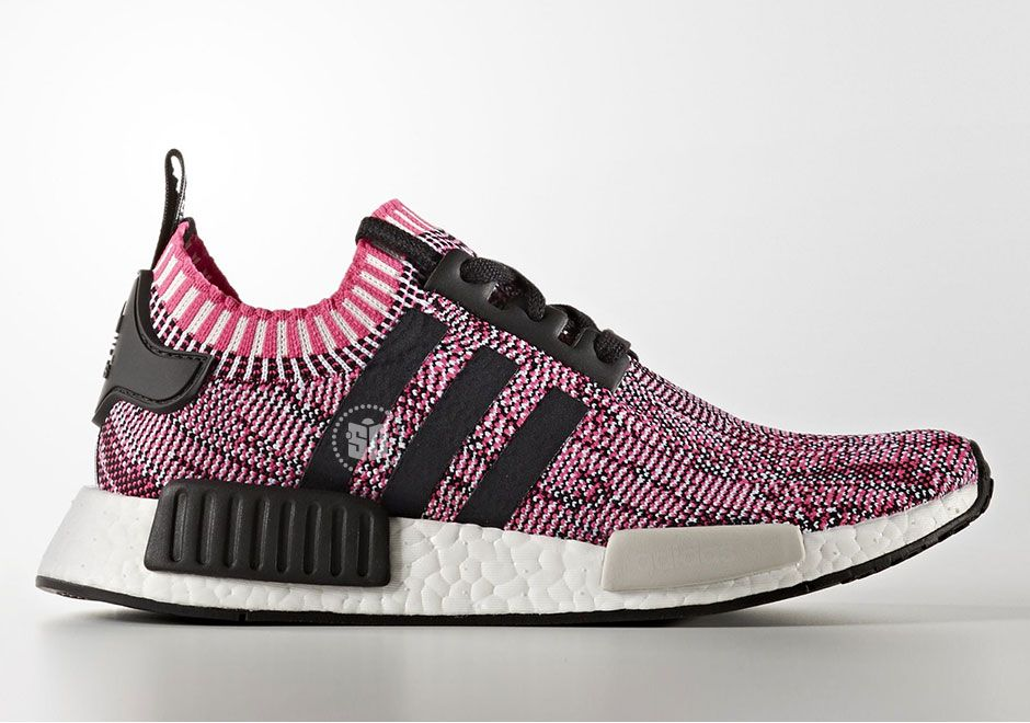 buy popular 04e12 8d1ba The adidas NMD R1 Primeknit Pink Rose (Style Code BB2363) will release  this Spring 2017 season featuring pink and black Primeknit and more.  Details here